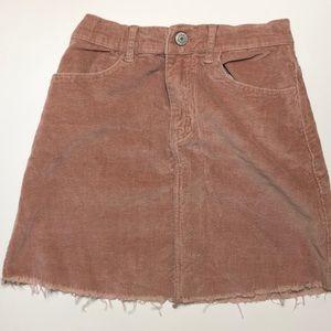 Pink corduroy brandy Melville skirt